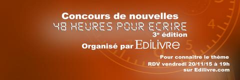 Concours d'écriture EDILIVRE - 20 Novembre 2015