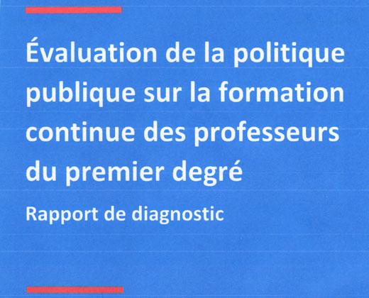 Evaluation de la politique sur la formation continue des instituteurs