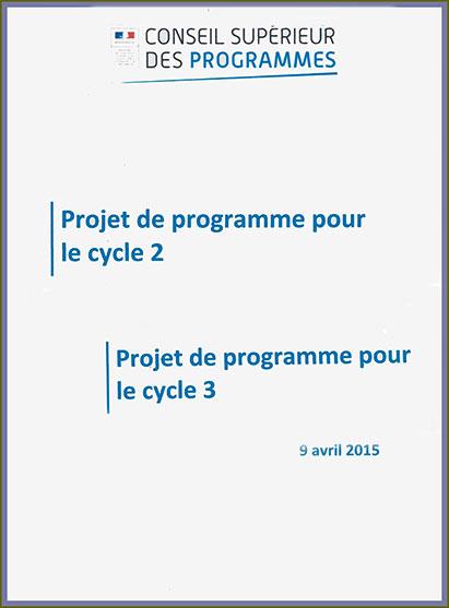 Les projets de programmes du primaire et du collège