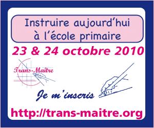 Invitez vos amis enseignants aux journées Trans-Maitre